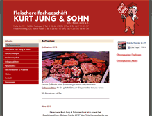 Tablet Preview of fleischerei-jung.de